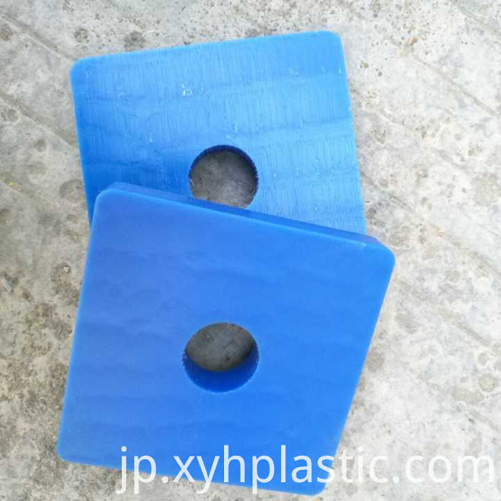 CNC machine blue nylon plastic sheet